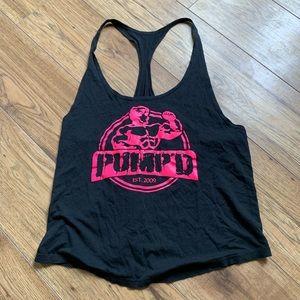 Tops - 🦋 Pumpd black and pink tank
